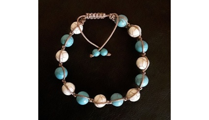 Santorini's Dawn - Charm Bracelet, Reiki Charged, energy infused and made exclusively of Howlite gemstones, meditation, yoga