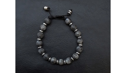 Orpheus' Aura (Black) - Reiki Charged and energy infused by high quality Bracelet made exclusively of Jasper and Hematite gemstones