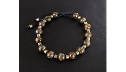 The Stoic - Be the Person You Always Aspired to Be! Reiki Charged high quality Bracelet, made of Tiger Eye and Hematite gemstone beads